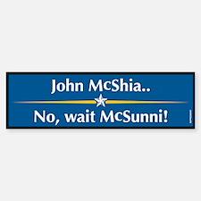 McShia - McSunni Anti McCain Bumper Bumper Bumper Sticker