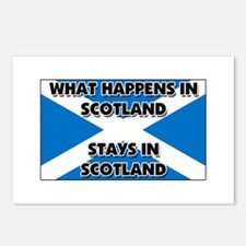 What Happens In SCOTLAND Stays There Postcards (Pa