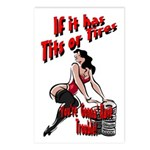 Tits Or Tires Postcards (Package of 8)