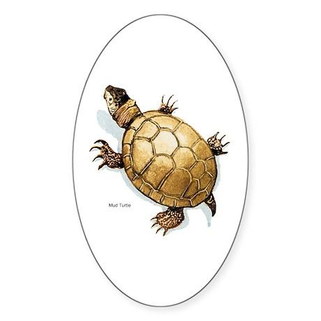 Mud Turtle Oval Sticker