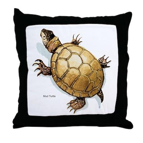 Mud Turtle Throw Pillow