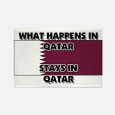 What Happens In QATAR Stays There Rectangle Magnet