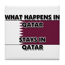 What Happens In QATAR Stays There Tile Coaster