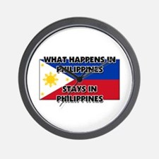 What Happens In PHILIPPINES Stays There Wall Clock