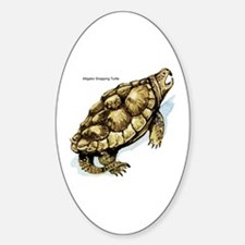 Alligator Snapping Turtle Oval Decal