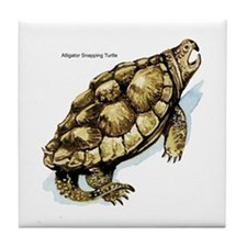 Alligator Snapping Turtle Tile Coaster