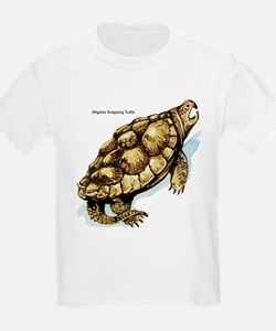 Alligator Snapping Turtle (Front) Kids T-Shirt