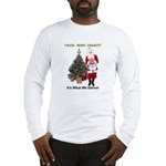 Masonic Santa Faith Long Sleeve T-Shirt