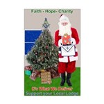 Masonic Support YOUR Lodge Santa Mini Poster Print