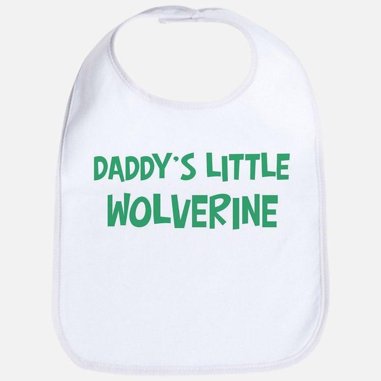 Daddys little Wolverine Bib