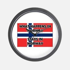 What Happens In NORWAY Stays There Wall Clock