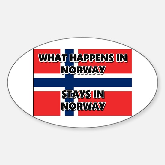 What Happens In NORWAY Stays There Oval Decal