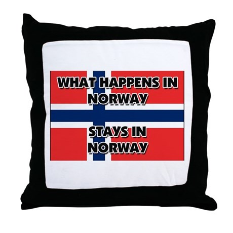 What Happens In NORWAY Stays There Throw Pillow