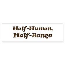 Half-Bongo Bumper Bumper Sticker