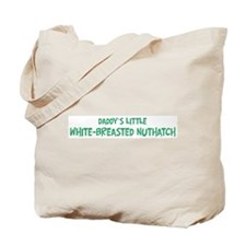 Daddys little White-Breasted Tote Bag
