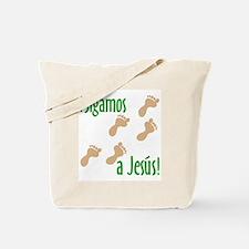 ¡Sigamos a Jesús! Tote Bag