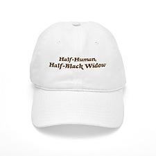 Half-Black Widow Baseball Cap
