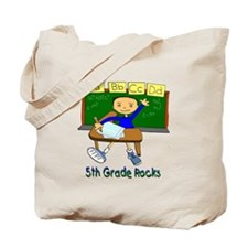 Student at Desk 5th Grade Tote Bag
