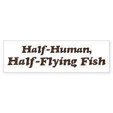 Half-Flying Fish Bumper Bumper Sticker
