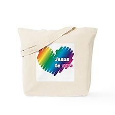Jesús te ama Tote Bag