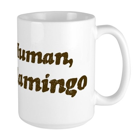 Half-Flamingo Large Mug