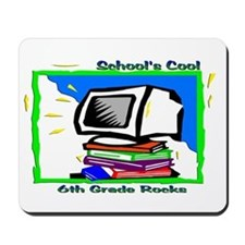 PC & Books 6th Grade Mousepad