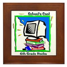 PC & Books 6th Grade Framed Tile