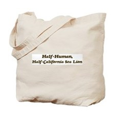 Half-California Sea Lion Tote Bag