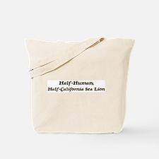 Half-California Sea Lion Tote Bag
