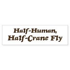 Half-Crane Fly Bumper Bumper Sticker