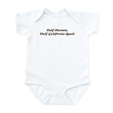 Half-California Quail Infant Bodysuit