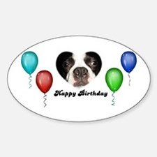 SAY IT WITH BALLOONS Oval Decal