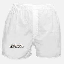 Half-Feral Cat Boxer Shorts