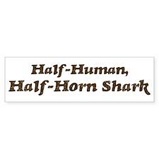 Half-Horn Shark Bumper Bumper Sticker