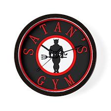 Satan's Gym 2 Wall Clock