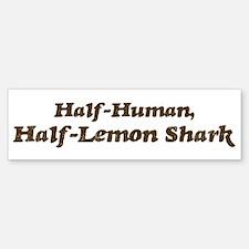 Half-Lemon Shark Bumper Bumper Bumper Sticker