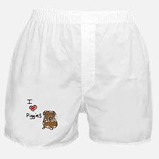 I Love Piggies Boxer Shorts