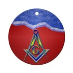 Masonic S&C Holiday Ornament Keepsake (Round)