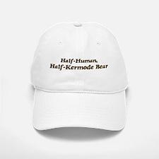 Half-Kermode Bear Baseball Baseball Cap