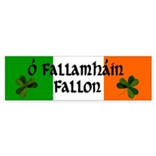 Fallon in Irish & English Bumper Bumper Sticker