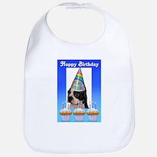 happy birthday cupcakes Bib
