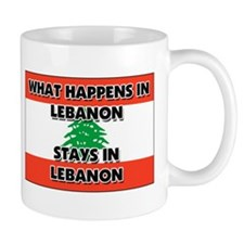 What Happens In LEBANON Stays There Small Mug