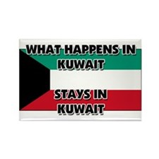What Happens In KUWAIT Stays There Rectangle Magne