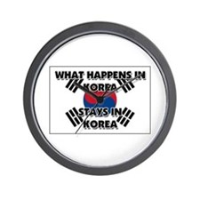 What Happens In KOREA Stays There Wall Clock