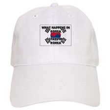 What Happens In KOREA Stays There Baseball Cap