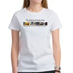 Women's T-Shirt - Large image on back