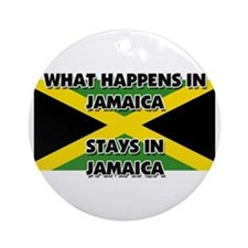 What Happens In JAMAICA Stays There Ornament (Roun