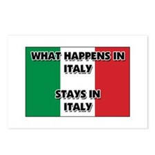 What Happens In ITALY Stays There Postcards (Packa
