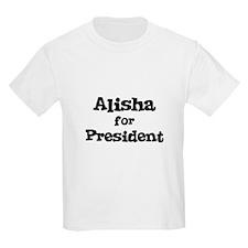 Alisha for President Kids T-Shirt