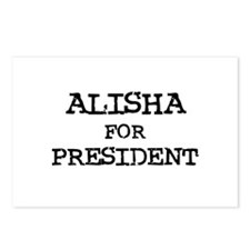 Alisha for President Postcards (Package of 8)
